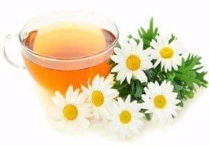 remedio casero de té con manzanilla