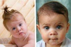 peinados de bebés