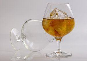 copa con alcohol