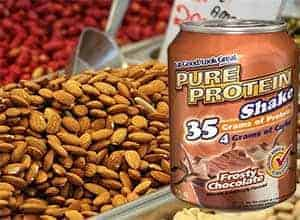proteína vegetal y batido de proteinas
