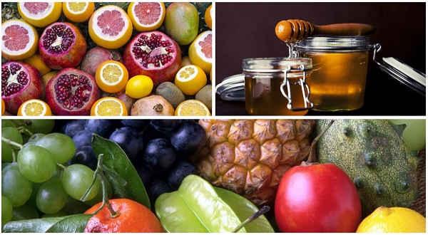 frutas miel y fructosa