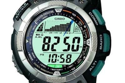 pantalla de reloj deportivo Casio