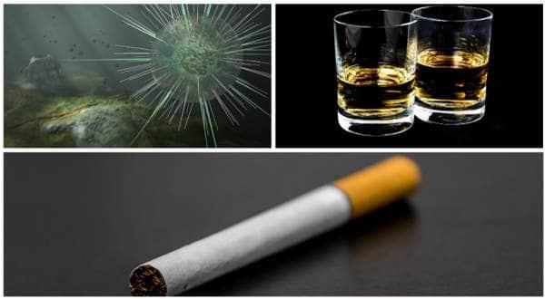 factores riesgo del cáncer - virus papiloma alcohol y tabaco