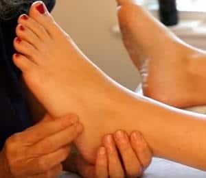 masaje en pie