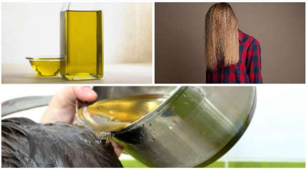 aceite de oliva en cabello