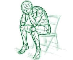 dibujo sobre persona deprimida