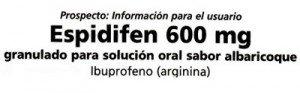 prospecto ibuprofeno espidifen 600
