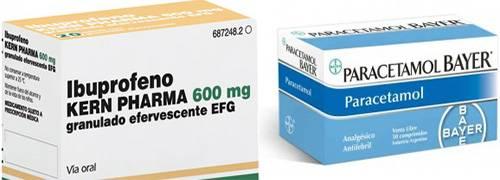 medicamentos ibuprofeno y paracetamol
