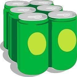 6 latas de bebida soda