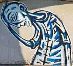 graffiti sobre el dolor
