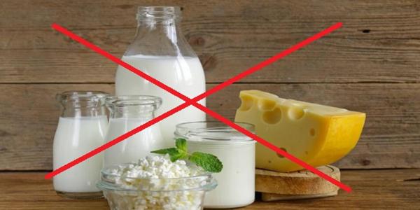 No a los productos lácteos