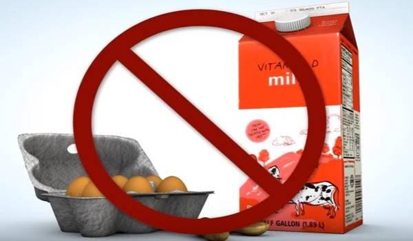 intolerancia a los huevos y a la leche